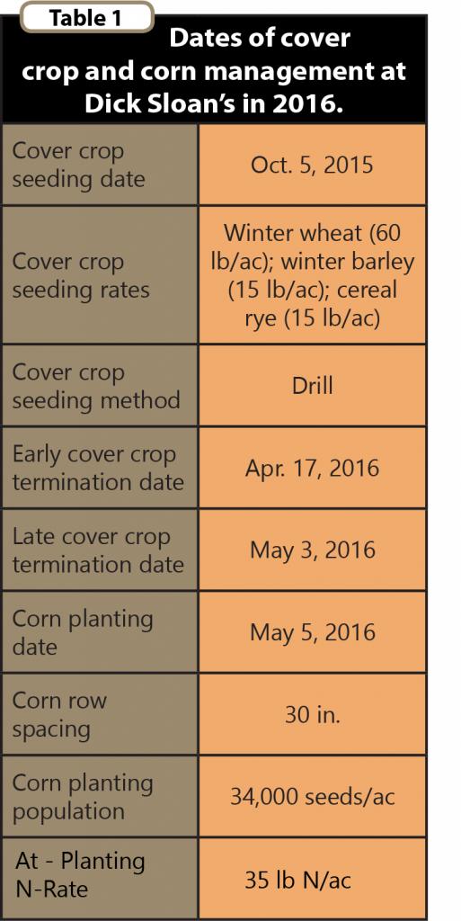 CC Term Ahead of Corn Table 1