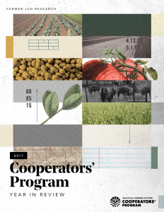 2017 Cooperators Program Year in Review cover