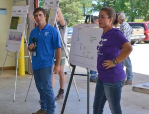 Kellie and A.J. Blair discuss some of their on farm research results