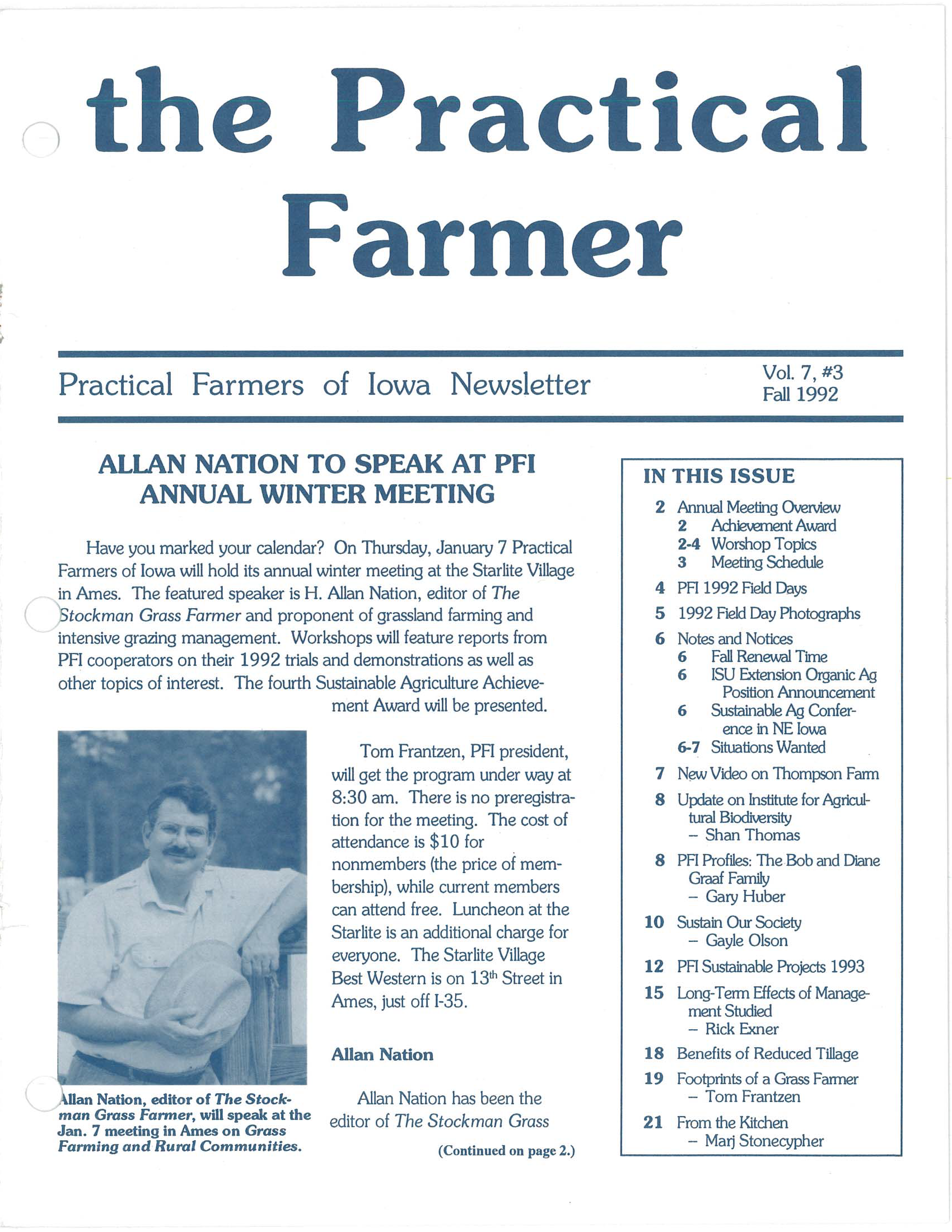 The Practical Farmer: Fall 1992 - Practical Farmers of Iowa