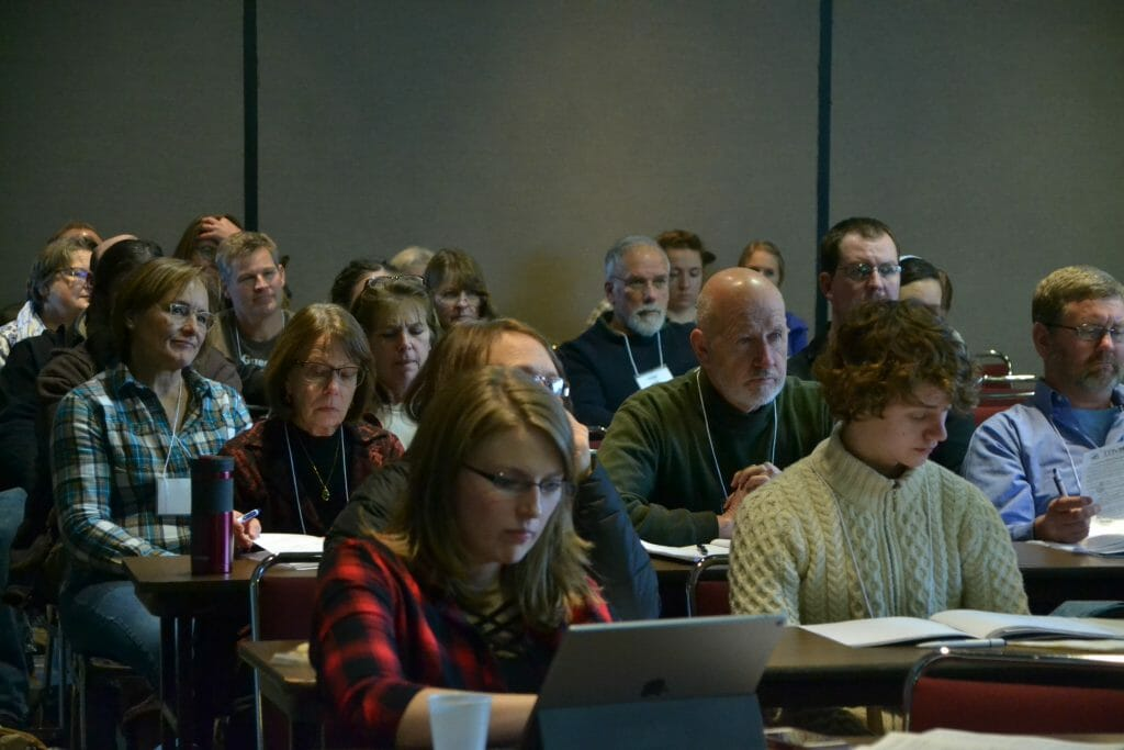 attendees at practical farmers of iowa annual conference 2019