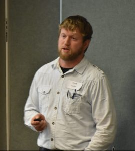 Mark Yoder presents research at pfi cooperators' meeting annual grazing