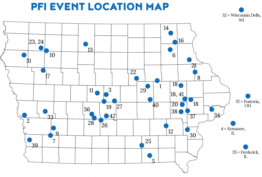 2019 Practical farmers Field day map