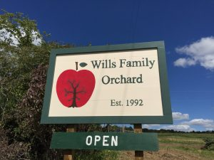 Wills orchard sign