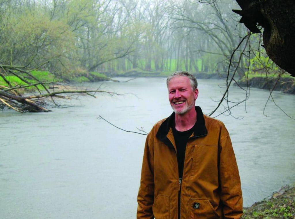 Clark Porter by Black Hawk Creek DO NOT REUSE photo by Jeff Reinitz of the Waterloo Cedar Falls Courier
