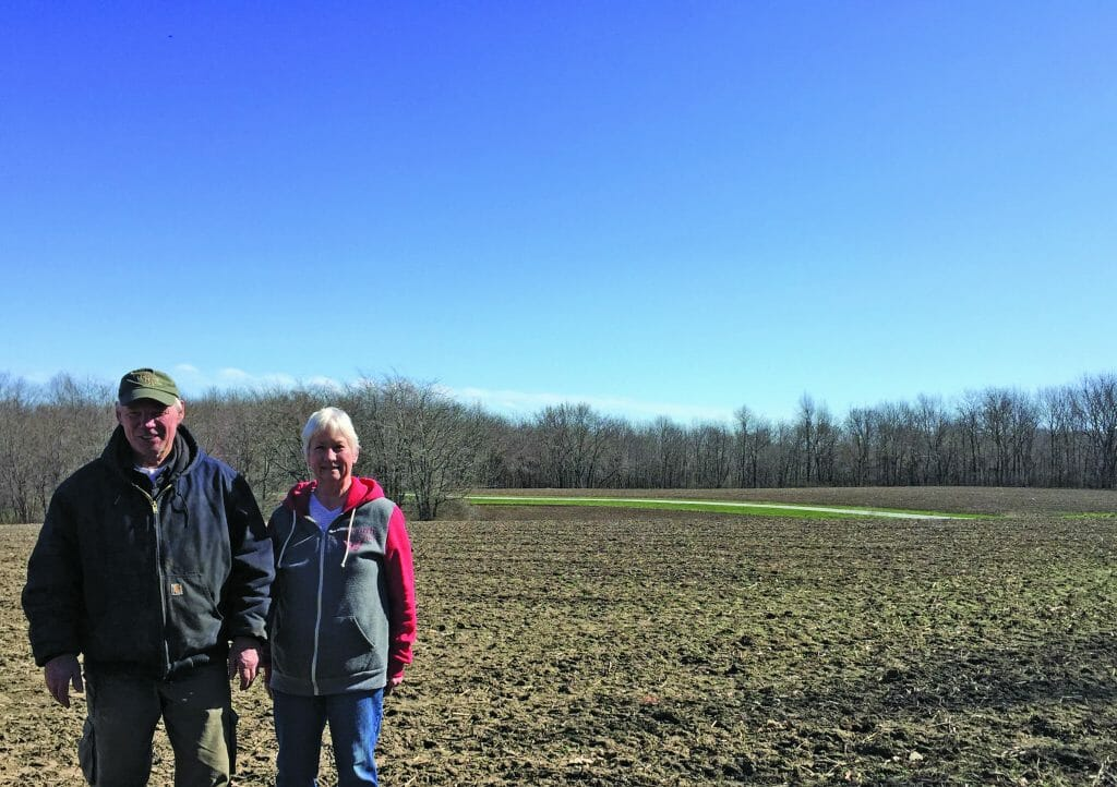 Rick and Beth McGeough prairie restoration from crop ground
