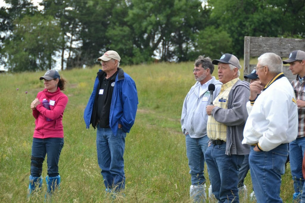 Field day attendees pastured pork pig health