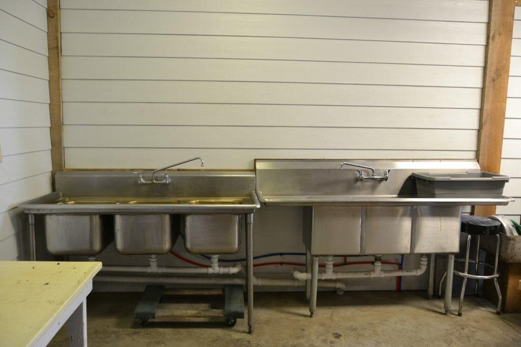 vegetable washing sinks packhouse