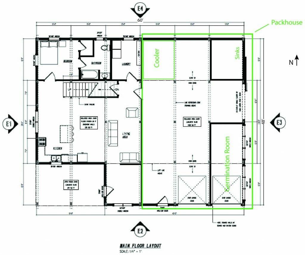 floor plan packhouse house