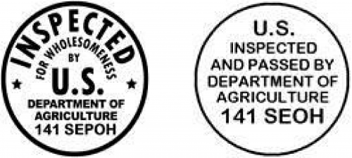 State seal of inspection for ohio's cooperative interstate shipment products.