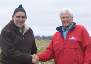 Carney, a cattle grazier, and Rick Kimberley, a row crop farmer worked together to contract graze cover crops soil compaction research