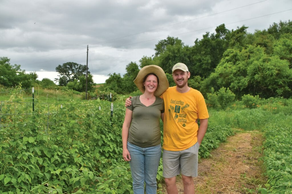 Natasha Hegmann and Pete Kerns on their farm