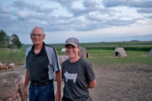 Dan and April Wilson on their farm in August 2020