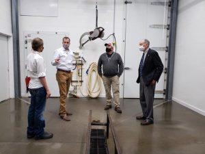 Secretary Mike Naig and Senator Chuck Grassley visited Story City Locker on July 16 to learn how the CIS program can help this small business grow. Photo courtesy of IDALS