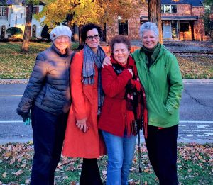 The Bouska sisters by a resplendent fall tree in Minneapolis during Oct. 2019 MOSES conference (lighting tweaked)