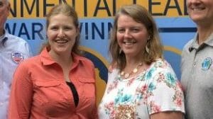 Alisha Bower and Sarah Carlson at EPA grant ceremony in August 2019 photo by PFI e1608309936646