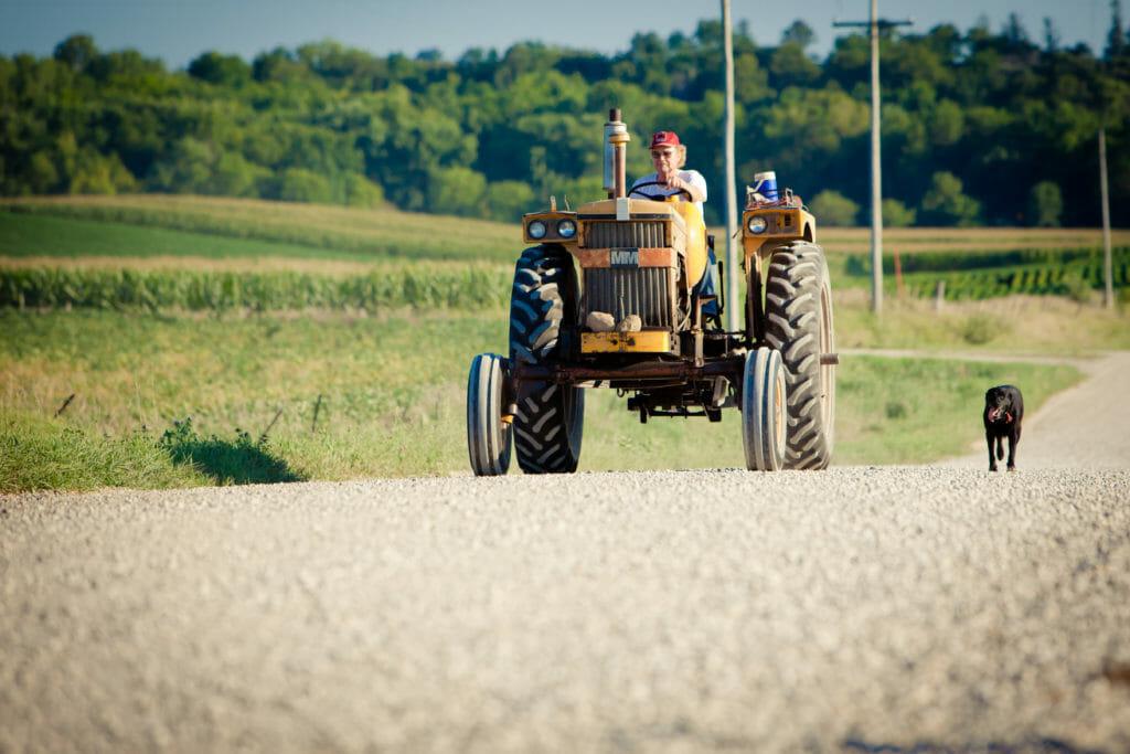 JohnGilbert Dog and Tractor