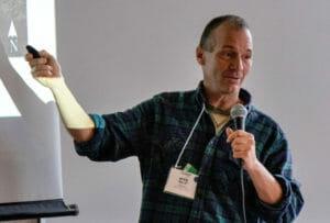 Mike Malik presenting at orcharding short course at PFI conference