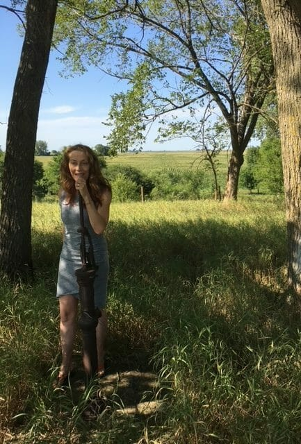 Kathleen on the farm in 2019 2