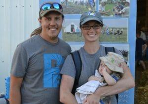 Sam Bennett, wife and baby