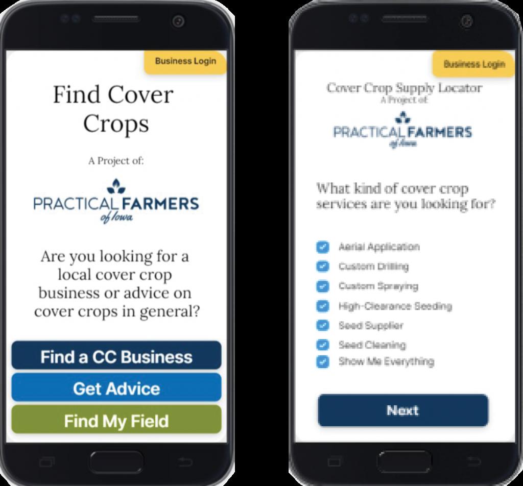 Cover crop app