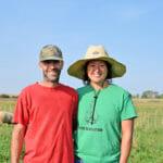 Johnny Rafkin and Wendy Johnson on their farm Sept. 23, 2020