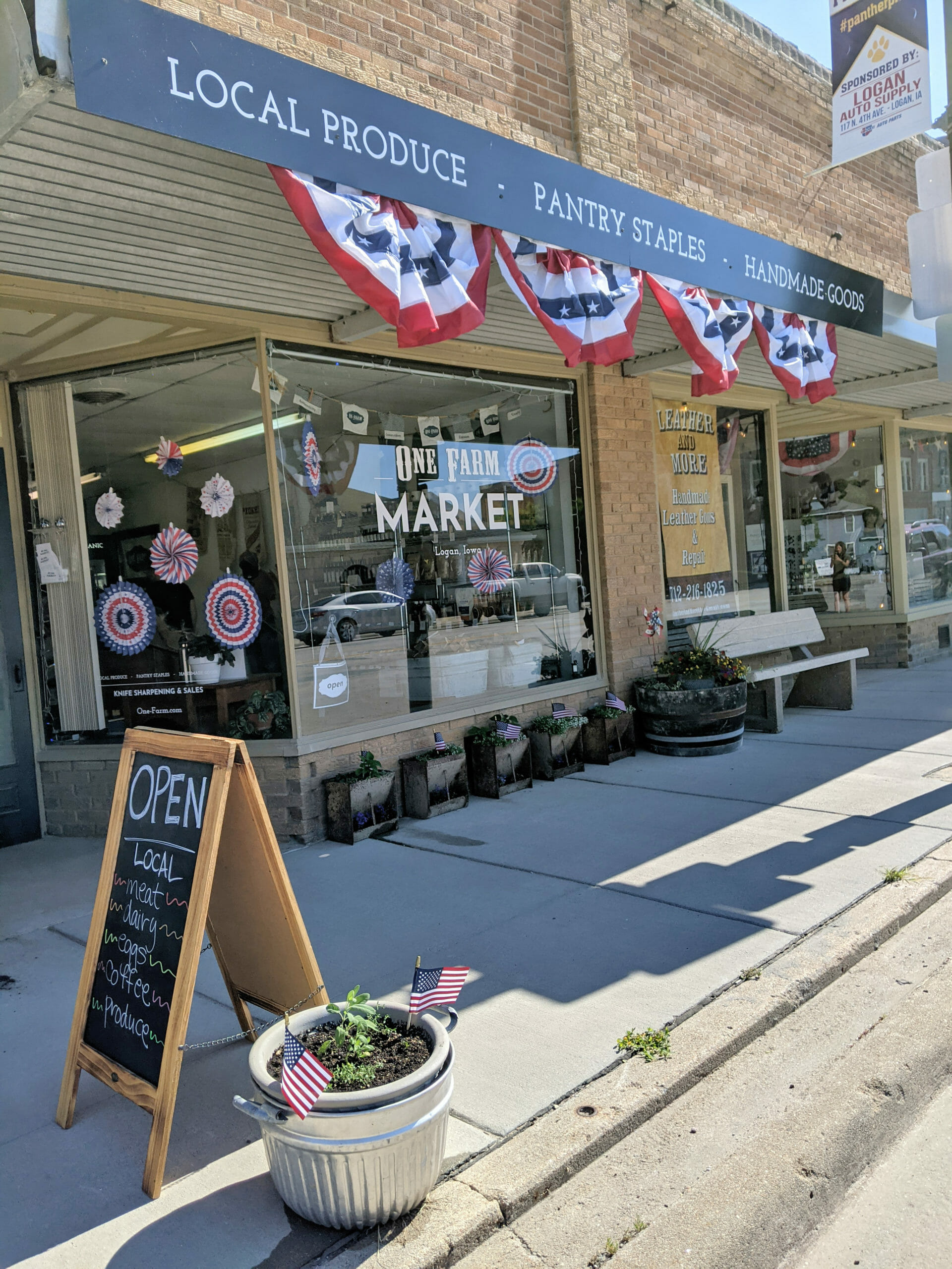 One Farm Market Decorated for 4th