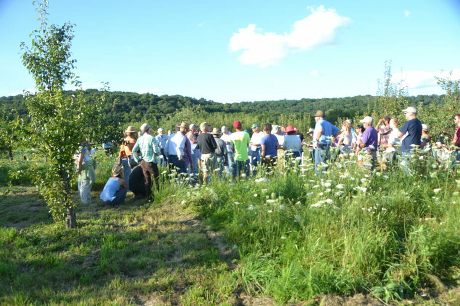 100 people attended the pear field day at Sliwa Meadow Farm.