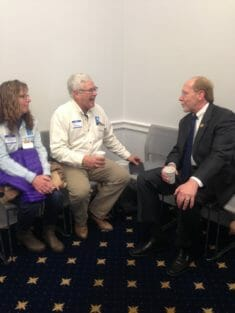Mark and Melanie with Rep. Dave Loebsack