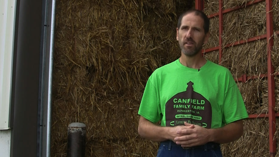 Earl Canfield grows small grains and other crops near Dunkerton.